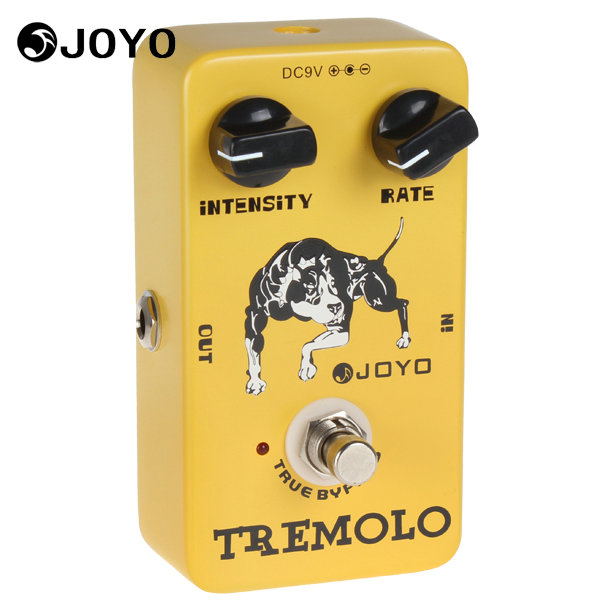 Joyo JF-09 Tremolo Electric Guitar Effect Pedal Box True Bypass and Distinctive Sounds + Rate Intensity Knobs Guitar Accessories joyo jf 37 guitar effect pedal analog chorus electric true bypass guitar audio pedal box musical instrument accessories
