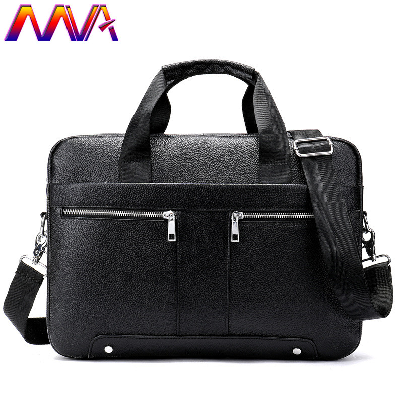 MVA Genuine Leather Men`s Briefcase Newly Arrival Men`s Vintage Handbag Notebook Computer Shoulder Bag Casual Men Briefcase