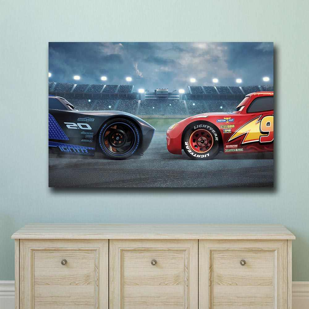 Printing Wall Picture Cars 3 Pixar Animated Movie Ad Home Decor On