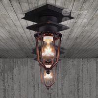 American industrial style retro restaurant Edison outdoor bathroom explosion proof steel ceiling light