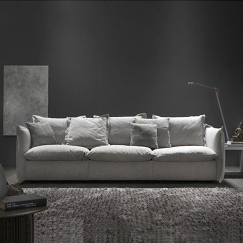цена на Nordic fabric down fabric simple modern sofa