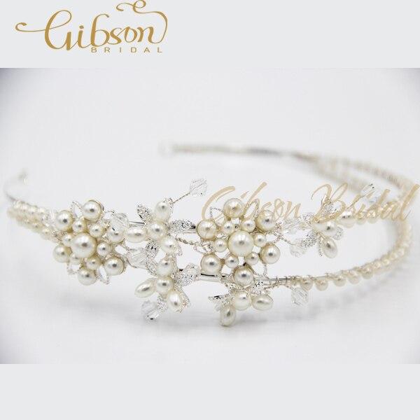 ᗗEnvío gratis diseño floral doble banda hecha a mano de la perla de ...