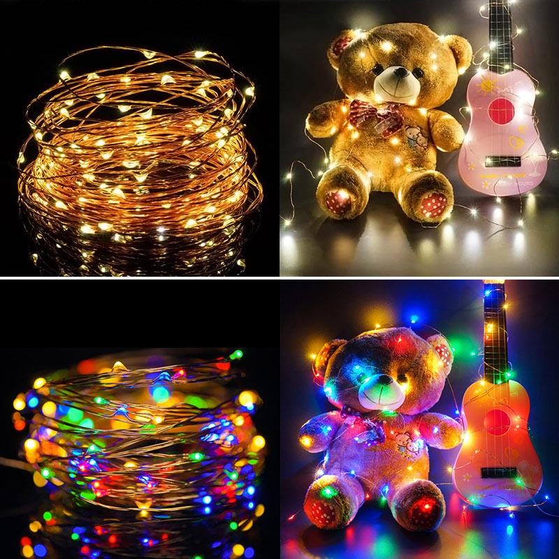 Nightlight 10M 100LED Novelty Copper Fairy Lights 5V USB LED Night Light For Toy Desk Flower Home party Decoration S C