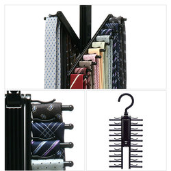 Tie Rack Belt Scarf Neckties Hanger Holder Adjustable 360 Degree Rotating Multifunctional Closet Organizer Dropshipping