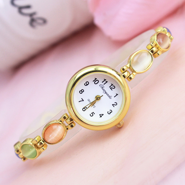 2018 Luxury Brand Gold Bracelet Watches Women Ladies Fashion Jewelry Dress Quart