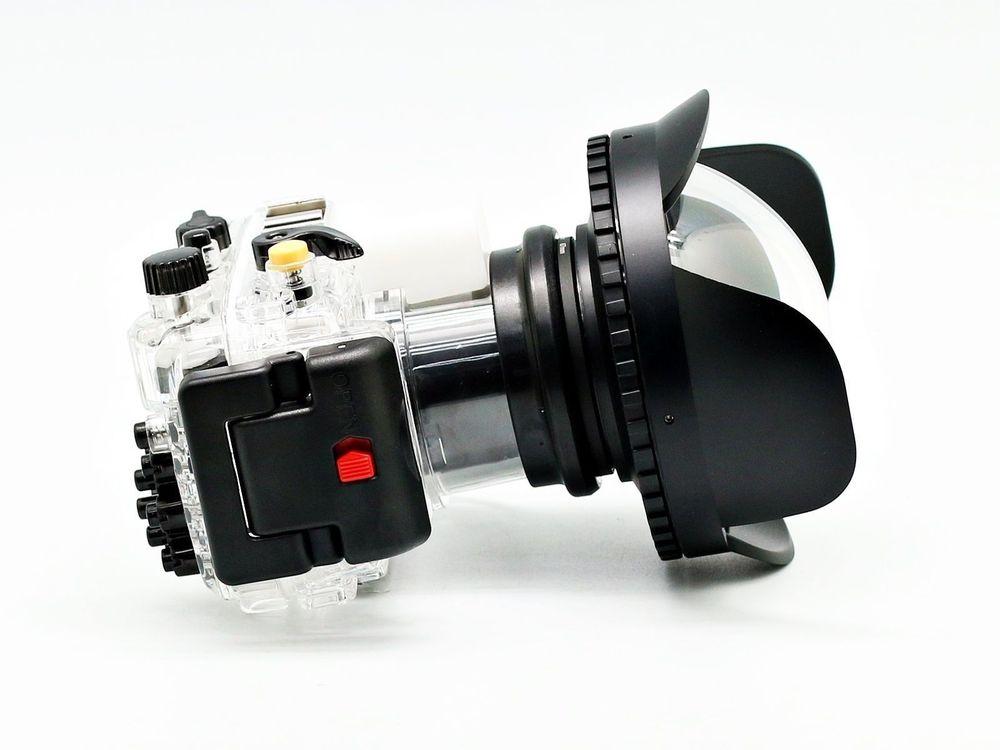 For Sony RX100 III 40M Waterproof Housing Case + Fisheye Wide Angle Lens 40m 130ft waterproof housing case for sony rx100 iv m4 fisheye wide angle lens