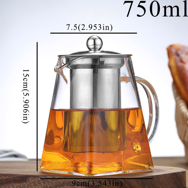 Small Glass Teapot Container Tea Pot