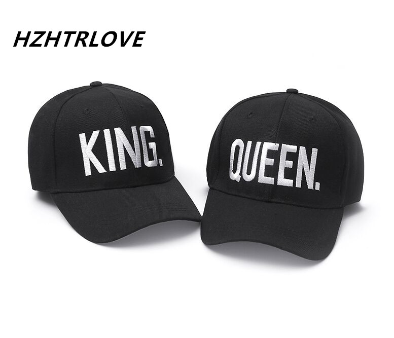 Fashion KING QUEEN Hip Hop Baseball Caps Embroider Letter Couples Lovers Dad Hat Adjustable Snapback Sun Hats for Men Women