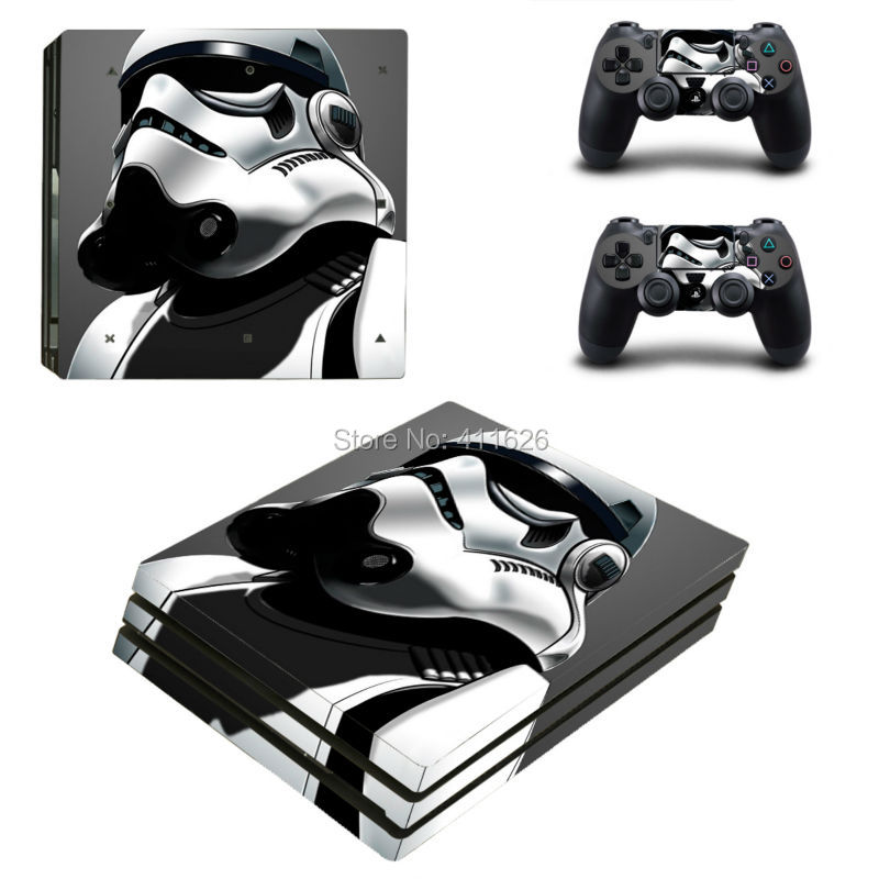 White Knight Vinyl Cover Decal For PS4 Pro Skin Sticker for Sony PlayStation 4 Pro Console with 2 Controllers Skins