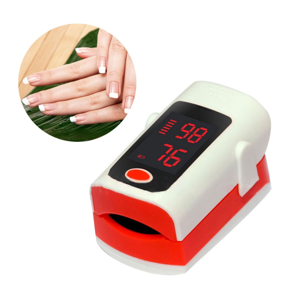 Portable Mini LCD Finger Fingertip Pulse Oximeter Accuracy Durability Digital SPO2 Rate Heart Beat Oxygen Monitor Health Care Me