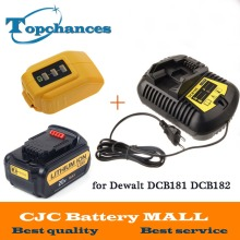 High Quality 20V 4000mAh Power Tools Batteries for Dewalt DCB181 DCB182 DCD780 DCD785 DCD795 Charger USB