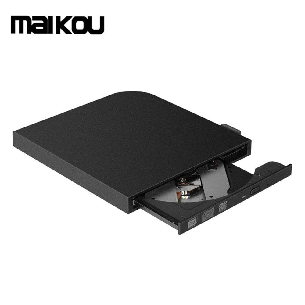 MAIKOU USB 3.0 Type-C Externe Lecteur Optique Haute Vitesse CD DVD ROM Lecteur DVD RW Graveur Lecteur Écrivain enregistreur-Noir