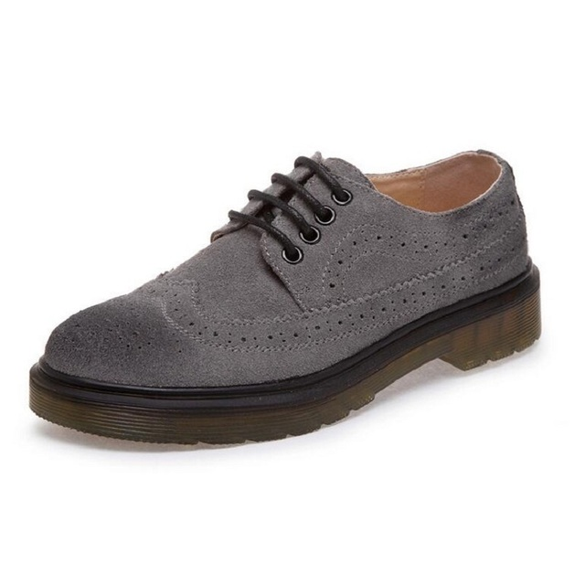 Plus Size 34-44 Lovers Shoes Womens Flats Vintage Platform Shoes Oxford Lace up Brogue Shoes For Women Comfortable Shoes