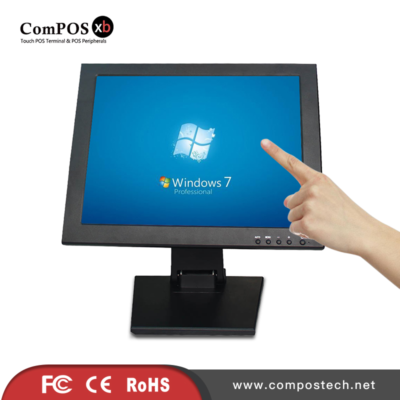 15 Inch LCD Touch Screen LCD POS Display Monitor For Point Of Sale Display 12 inch industrial lcd portable touchscreen monitor 12 lcd touch screen desktop monitor monitor touch for pos terminal