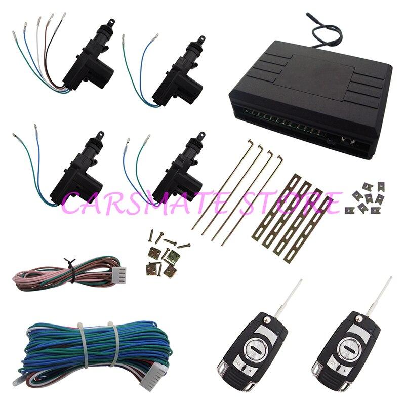 Système de verrouillage Central de porte de voiture à distance universel de qualité supérieure avec émetteurs à clé Flip de nombreuses clés vierges sont sélectionnables pour les voitures 12 V