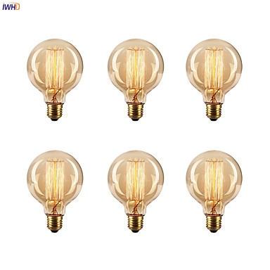 IWHD Bombillas Vintage Light Bulb For Home Decoration 40W E27 220V Ampoule Edison Bulb Retro Lamp Incandescent A19 G80 St64 T45