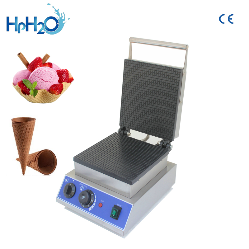 Commercial Non stick electric Ice Cream waffle Cone Maker customs iron ice cream cone machine price