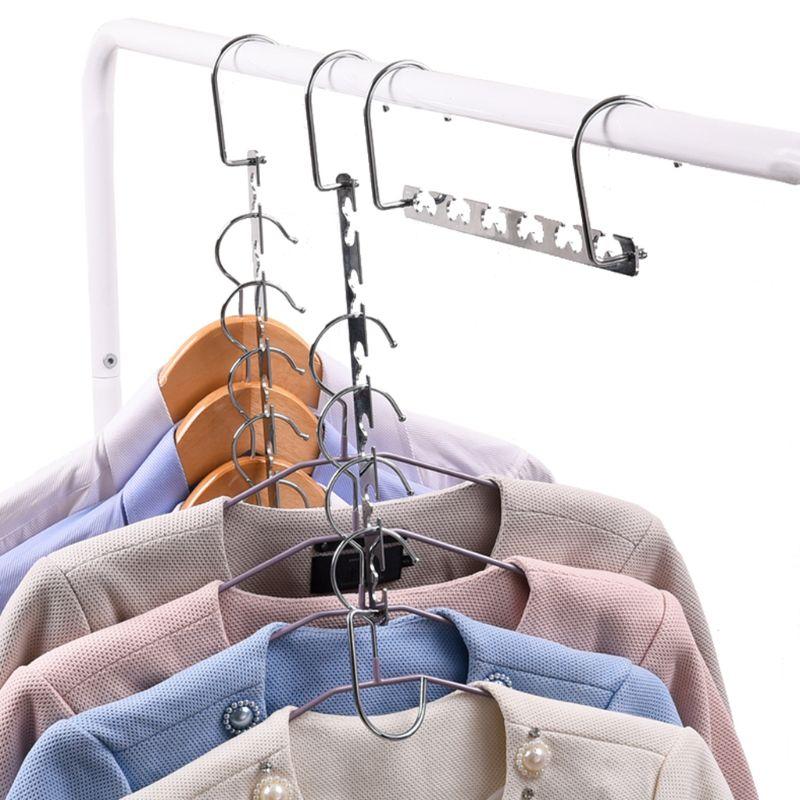 Image 3 - Windproof Clothes Hanger Metal Magic Hanging Chain Closet Space Saving Organizer Hook-in Hangers & Racks from Home & Garden