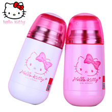 Hello Kitty Botella de Agua de Bebida de Acero Inoxidable Con Aislamiento Termo Taza con Tapa Niño para Niños Botella Termos Vaso De Leche