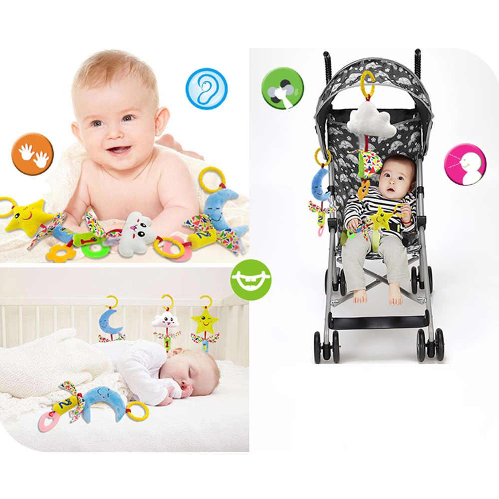 Погремушка для детской кроватки игрушки Детская Подвеска для коляски радио-няня музыкальная кровать колокольчик Кровать Висячие погремушки
