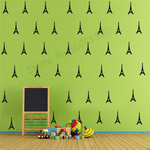 Room Decoration Tower Pattern Decor Vinyl Removeable Poster Nursery Kids Bedroom Ornament Modern Fashion Mural LY533