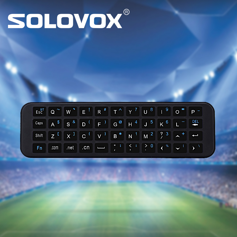 SOLOVOX KP-810-56S Mini Wireless Bluetooth Keyboard for Apple TV Box 4th Generation Siri Remote