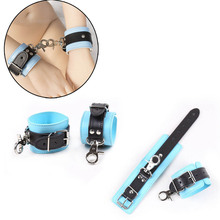 New PU Leather Bondage Sex Erotic Handcuff Ankle Cuffs Bdsm Slave Restraints Games For Adult Accessories Adjustable
