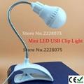 Flexível Tubo De Metal Ajustável com Porta USB LED Desk Lamp Table Lamp Interruptor de luz com Clip On-line Estudante lâmpada de Leitura Lâmpada de Luz DC 5 V