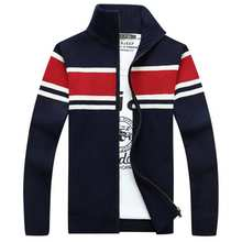 plus size mens sweaters thick long sleeve cardigan men winter sweater jacket casual zipper velvet knitted brand clothing B007