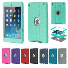 New Hybrid Armor Case For iPad Mini four Youngsters Protected Shockproof Heavy Responsibility Silicone Exhausting drop resistance ipad pill equipment