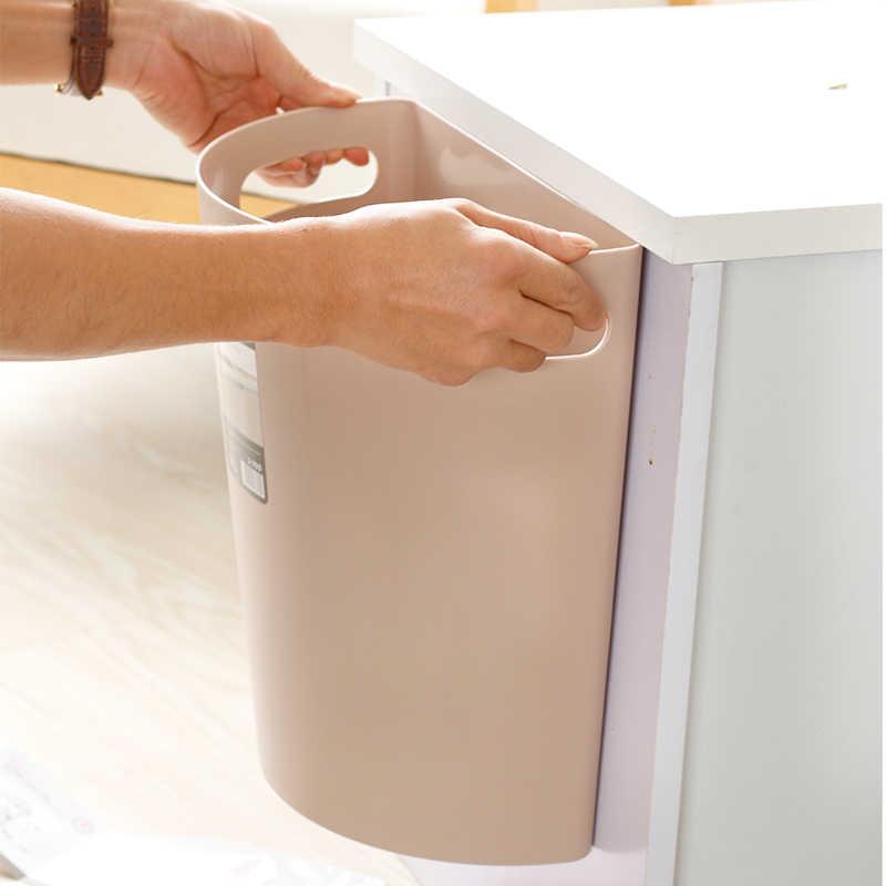 Kitchen Cabinet Door Hanging Large Trash Can Household Waste Bin Desktop Storage