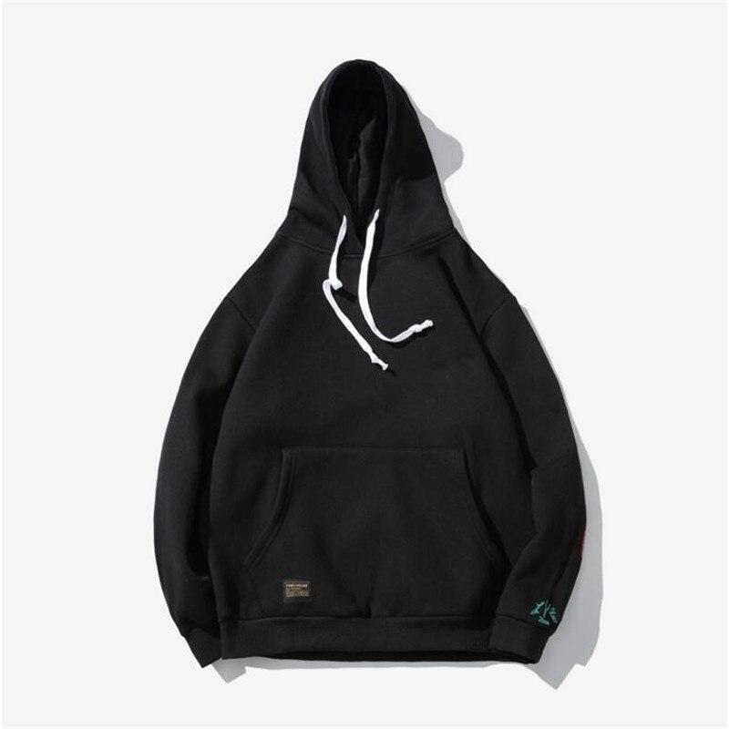 2018 New brand Hoodie Streetwear Hip Hop red Black gray pink Hooded Hoody Mens Hoodies and Sweatshirts Size