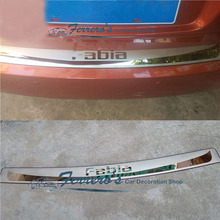 Высококачественная задняя панель подоконника из нержавеющей стали, протектор заднего бампера для Skoda Fabia 2008 2009 2010 2011 2012 2013