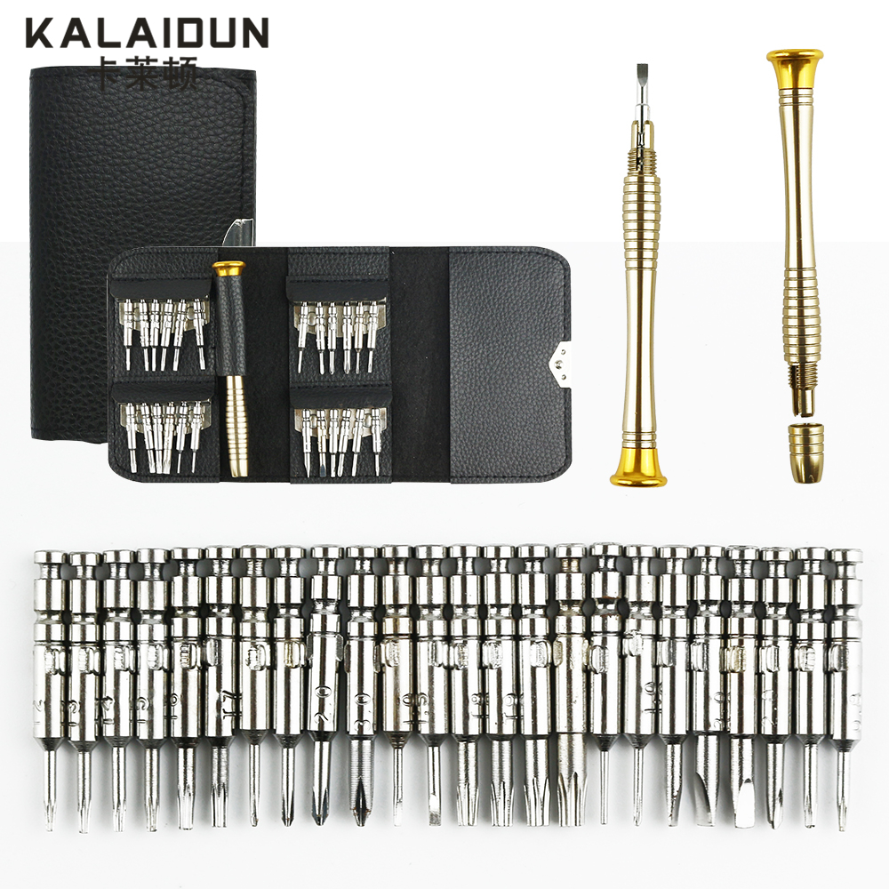 KALAIDUN Screwdriver Set 25 in 1  Torx Screwdriver Repair Tool Set For iPhone Cellphone Tablet PC Worldwide Store Hand tools prostormer 25 in 1 torx screwdriver set mini repair tool kit precision screwdriver tool set for pc glasses mobile phone watch