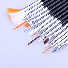 15 pcs Professional Nail Art Brush Set Line Drawing Painting Pen Gel Polish Designs Acrylic Perfect Manicure Books On Tools
