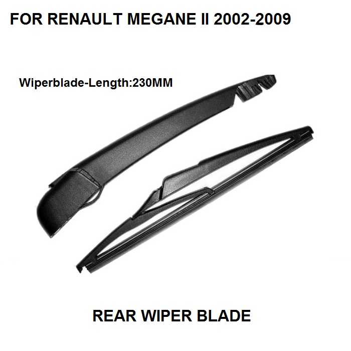 RENAULT SCENIC GRAND II MEGANE ST REAR WINDSHIELD WINDSCREEN WIPER ARM W// BLADE