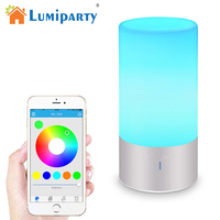 LumiParty LED Table Lamp Bluetooth Bedside Lamp Speaker Touch Sensor Reading Lamp Smart Phone Control RGB