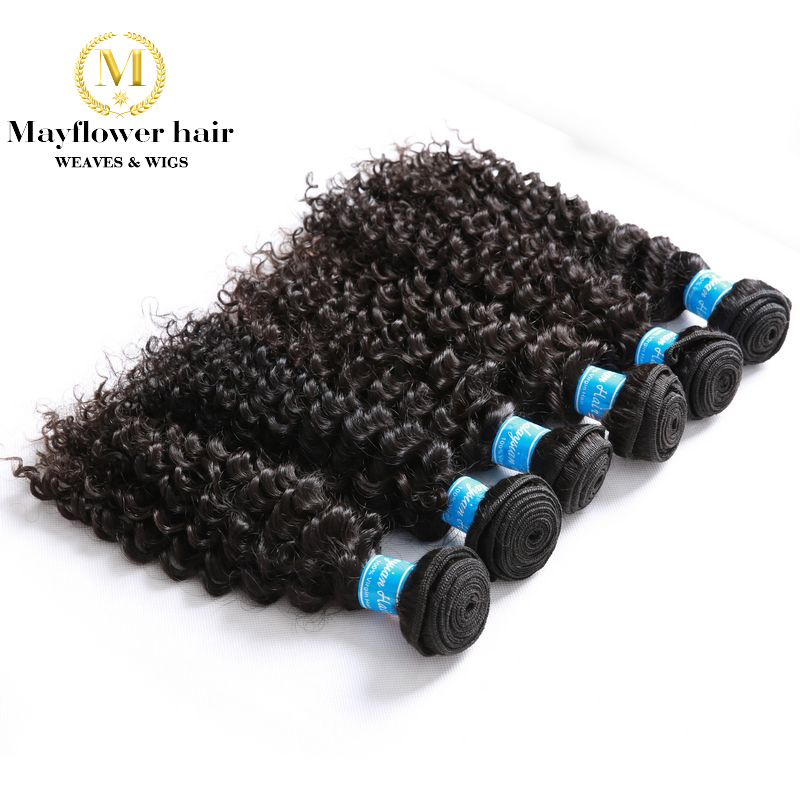 MFH Wholesale 10pcs Virgin Malaysian Hair Deep Wave Natural Color Can Be Dye No Tangle No Shedding Mix Length From 12-26""