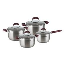 Набор посуды Rondell RDS-824 (8 предметов , посуда из нержавеющей стали, толщина дна 8мм)