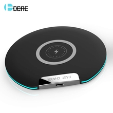 DCAE Fast Wireless Charger 10W USB Quick Charge Qi Wireless Charging Pad For iPhone Xs Max XR X 8 Samsung Galaxy S10/S9 Note 9 8