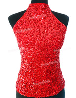 PrettyGuide Women S Shimmer Flashy All Sequins Embellished Sparkle Vest Tank Tops 6 Colors 2 Size