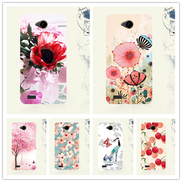 For Fly IQ4418 Cases Luxury Diy UV Painted Colored Soft Tpu Case For Fly IQ4418 IQ 4418 ERA Style 4 Cover Phone Sheer Bags
