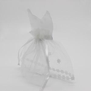Image 3 - 100 個オーガンザ巾着キャンディーバッグ 50 * タキシード & 50 * ドレス花嫁花婿の結婚式の好意パーティーギフトバッグ WB06