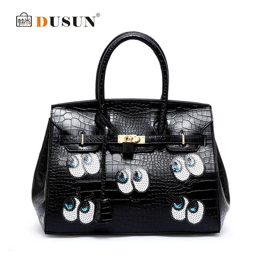 ФОТО 2016 New Fashion Eyes Women Handbags. Large Capacity Platinum bag. Korean Big Eyes Tote. High Quality Embossed Leather Women Bag