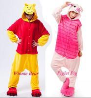 Hot Adults Pajamas All In One Pyjama Animal Suits Women Winter Garment Cute Cartoon Winnie Bear