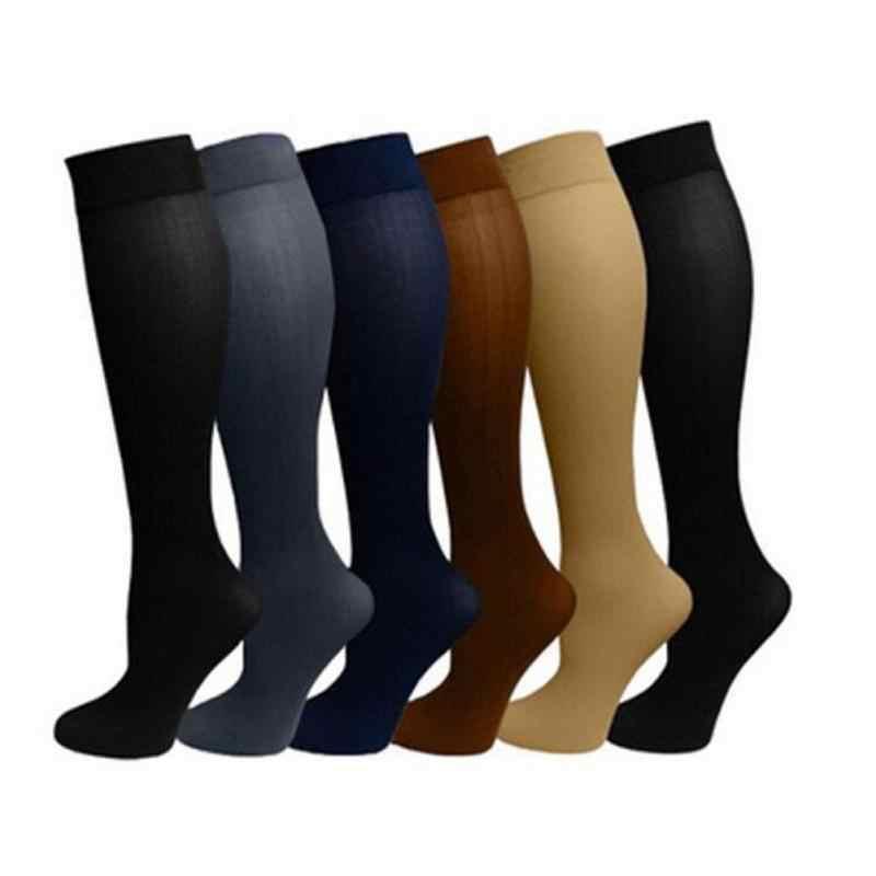 Sıcak Unisex Sıkıştırma Çorap Basınçlı Naylon Varisli Çorap diz yüksek Bacak Desteği Streç Basınçlı Sirkülasyon Stok