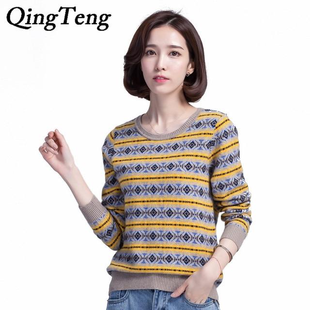 QingTeng Puro de la Cachemira Mujeres Suéteres Y Jerseys Mujer ...