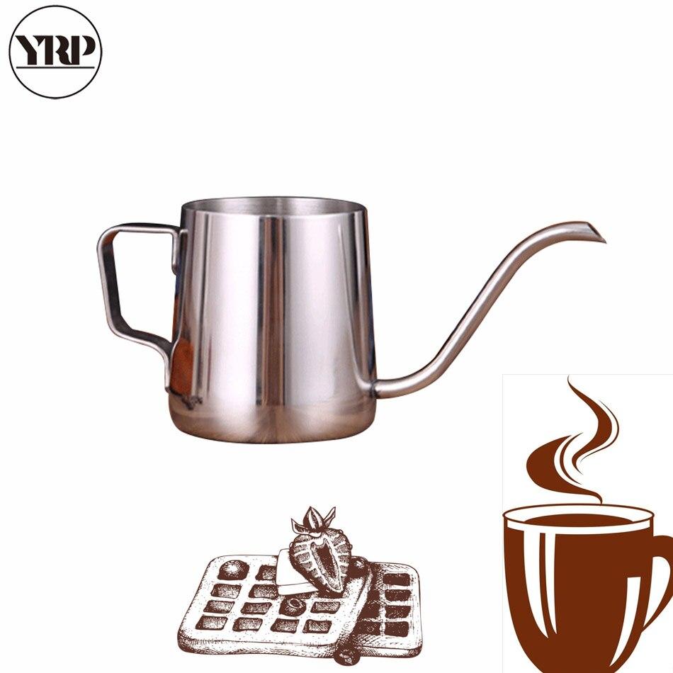 YRP 250 мл/350 мл кофейник из нержавеющей стали, кувшин для капельного чайника, длинный гусиная шея, носик, Pour Hario, кофейник для кухонного инструме...
