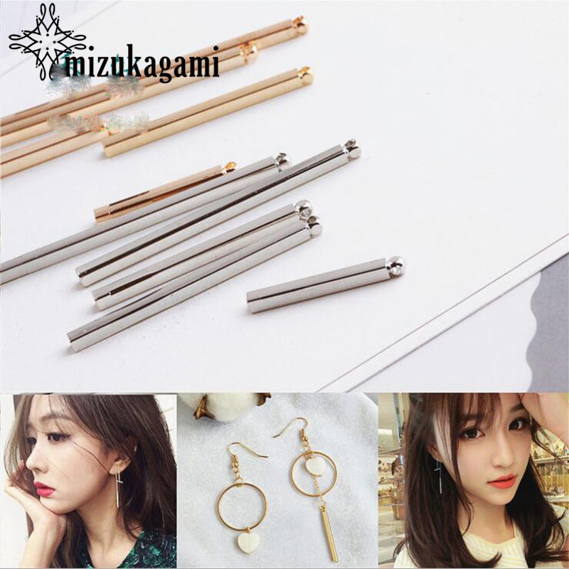 High Quality Copper Real Gold Plating Long Tip Tassel Charms 10pcs/lot For DIY Tassel Earrings Jewelry Making Accessories