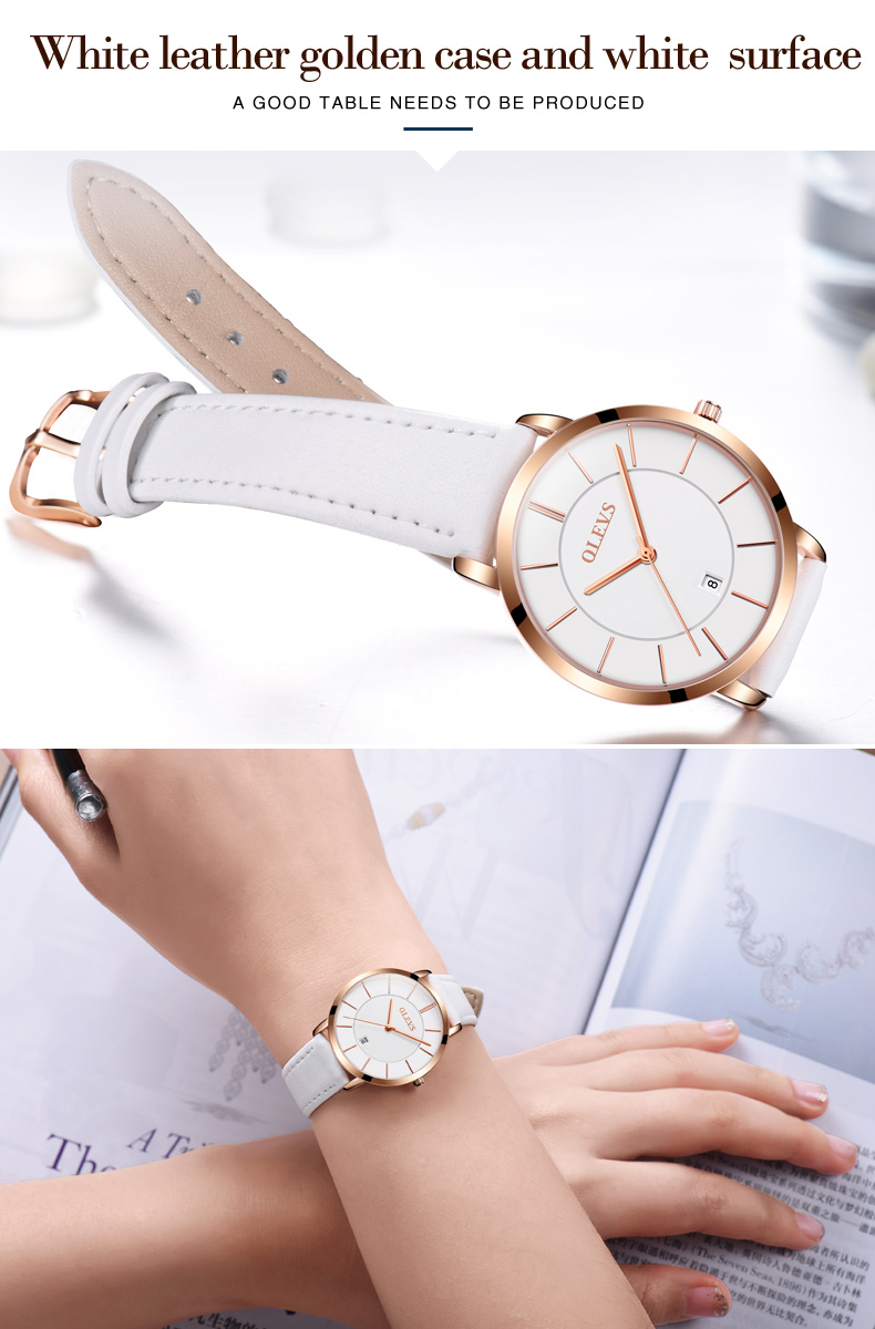 Men luxury brand quartz watches leather strap minimalist ultra-thin waterproof watch fashion wrist watch with high quality 18